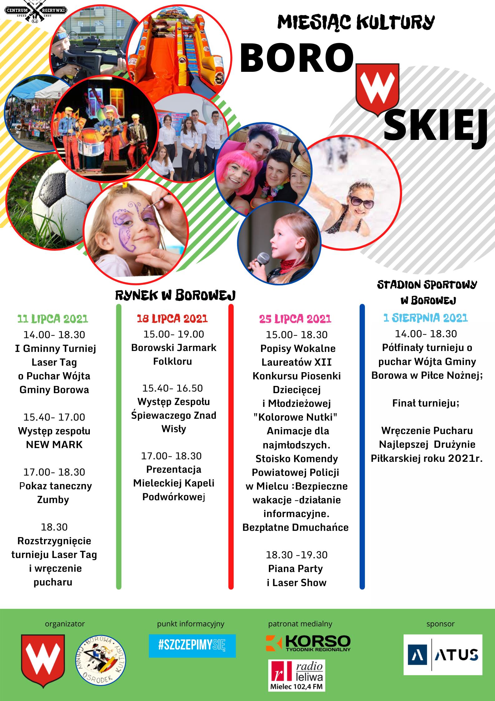 Plakat imprez w Borowej