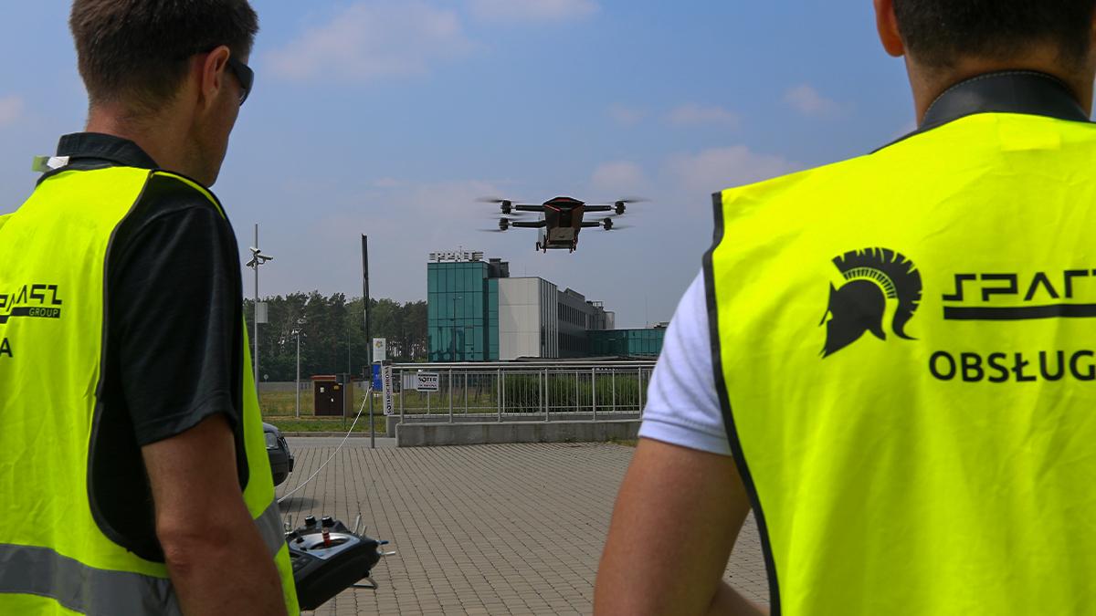 Pokaz dronów, fot. strona www Urz. Marszałkowskiego
