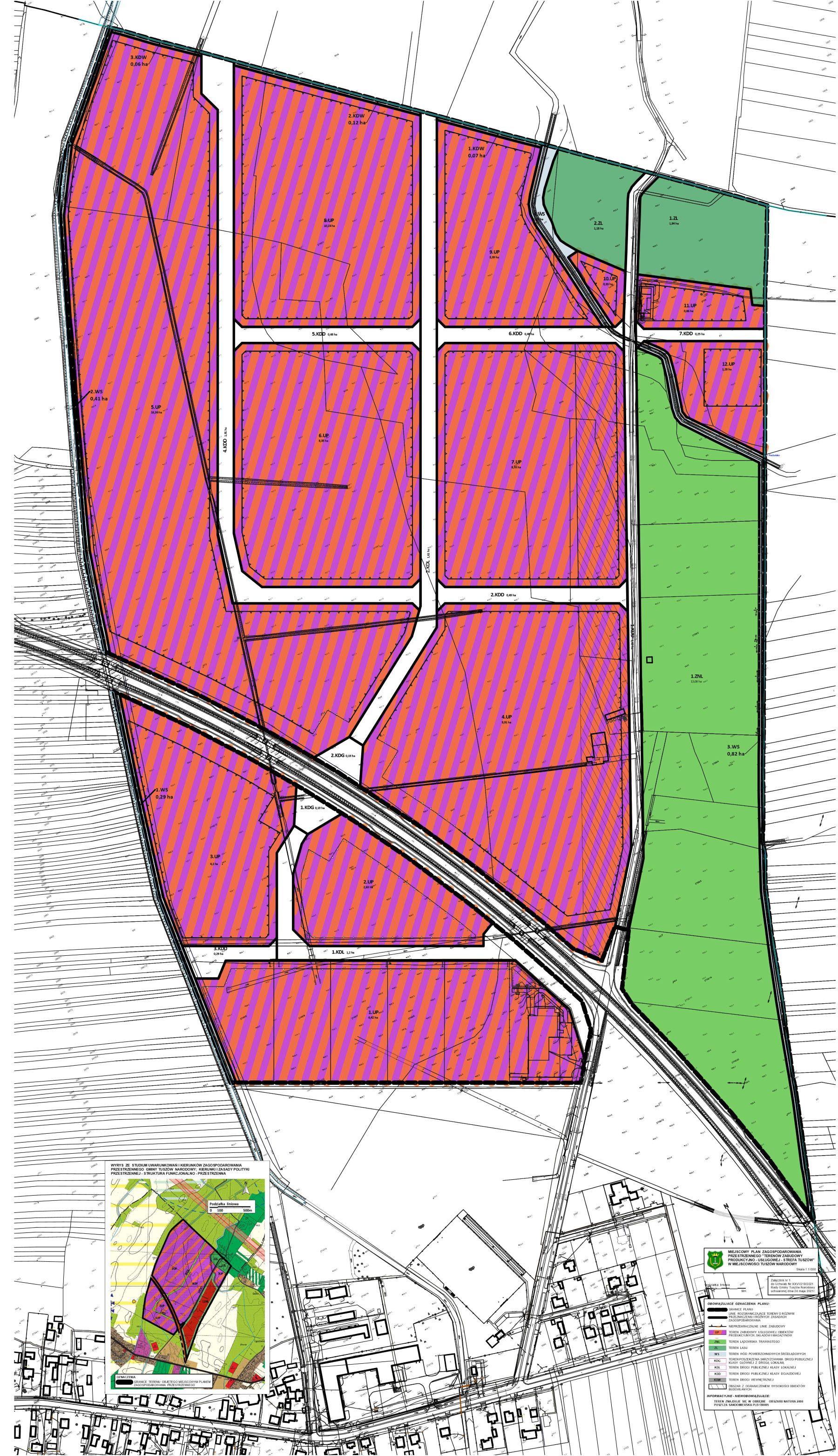 mapa terenów inwestycyjnych w Tuszowie Narodowym