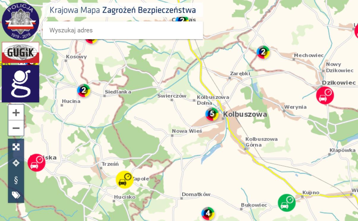 Krajowa Mapa Zagrożeń - Kolbuszowa