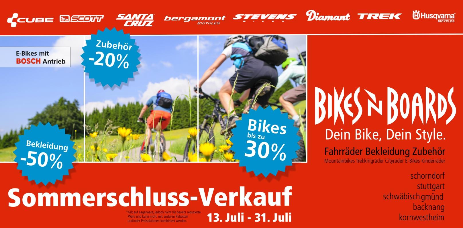 Bikesnboards Schlussverkauf