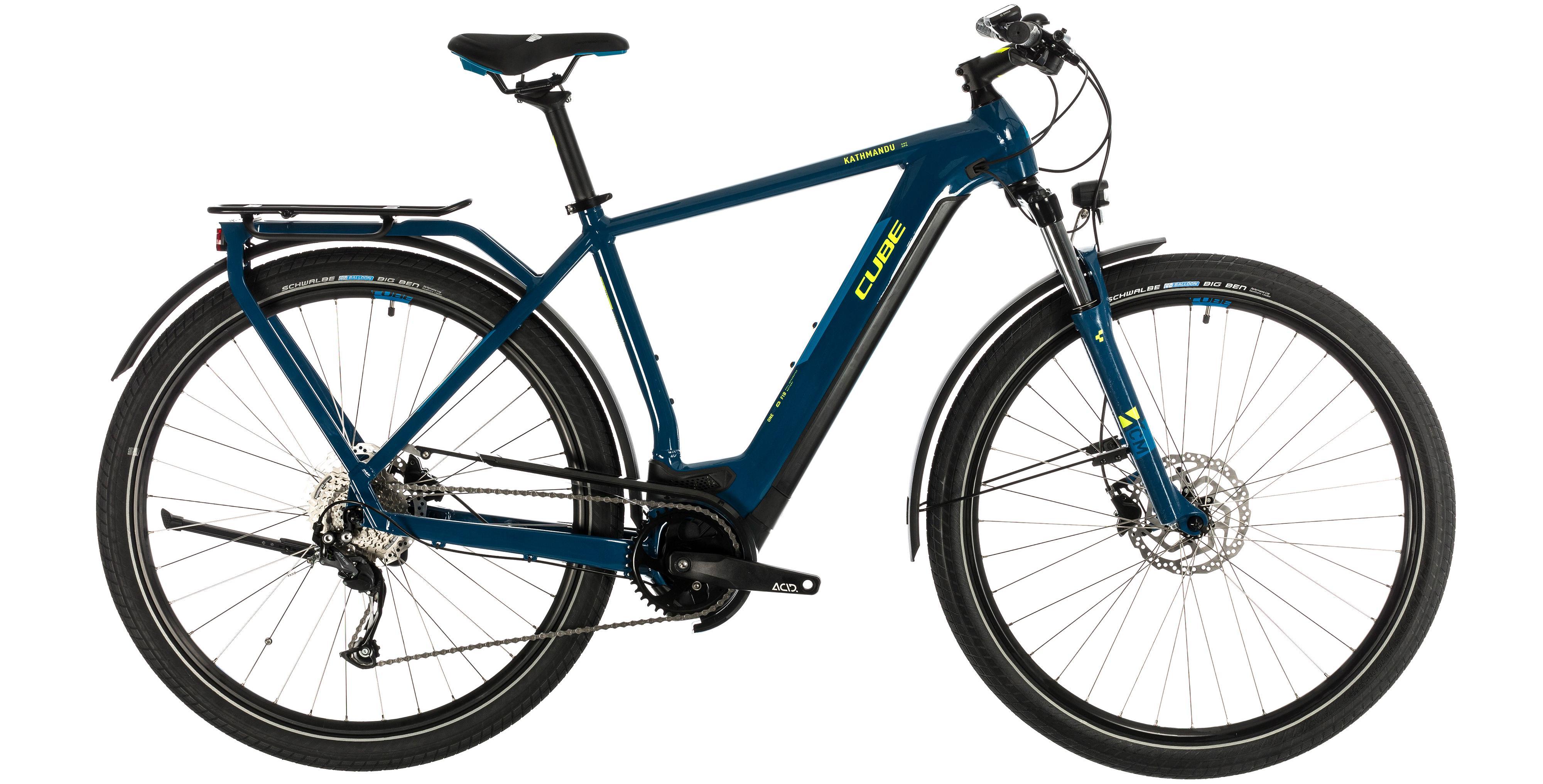 cube kathmandu hybrid one 625 blue n yellow trekking e bike 2020. Black Bedroom Furniture Sets. Home Design Ideas
