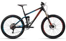Cube Stereo 160 HPA Race 27.5 black n flashred n blue