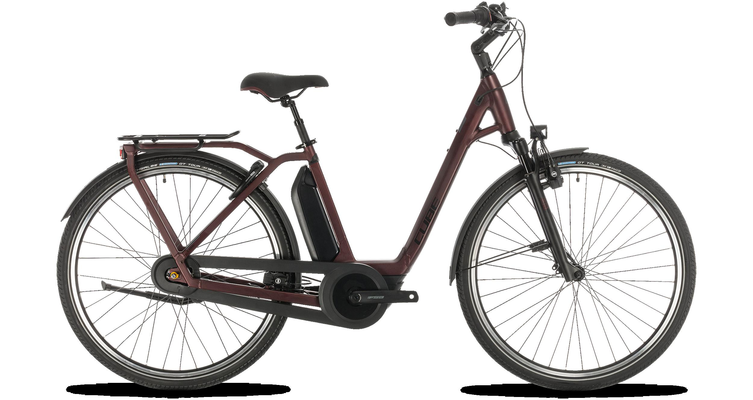 cube town hybrid exc rt 500 red n black trekking e bike 2020. Black Bedroom Furniture Sets. Home Design Ideas
