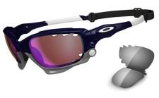 Oakley Brille Racing Jacket - Polished black/Prizm Trail/ clear vented