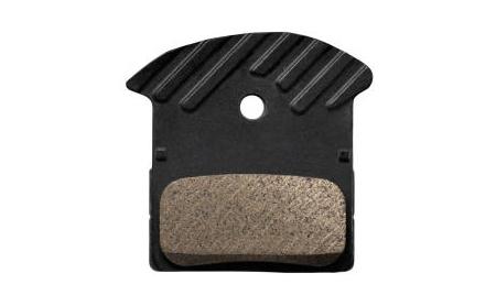 Shimano Bremsbelag Disc J02A/J03A Resin mit Kühlrippen