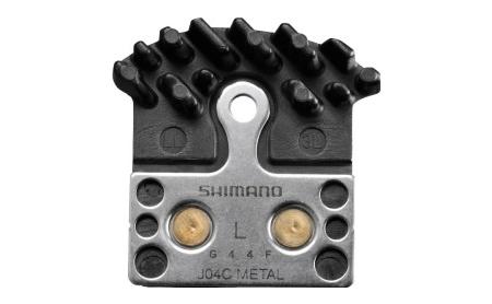 Shimano Bremsbelag Disc J04C Metall mit Kühlrippen