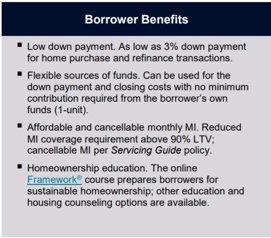 HomeReady Borrower Benefits