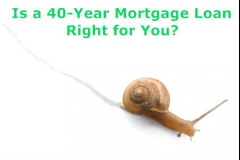 40-year Mortgage Loan - The Slow Route