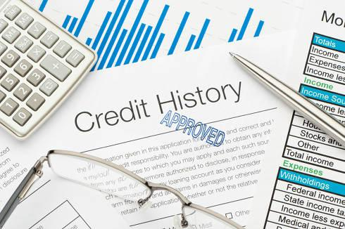 Consumers Credit History on desk