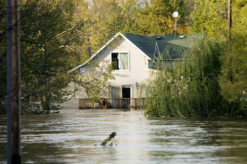 Flooded House | National flood insurance program
