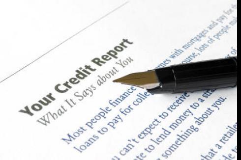 Your Credit Report | Pen on credit report description