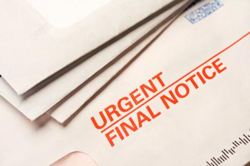 Debt Validation as an envelope with urgent final notice
