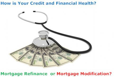 Mortgage Modification or Refinance? Check your financial health