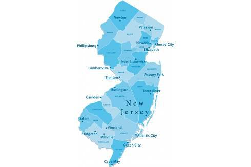 New Jersey state map | New Jersey Collection Laws