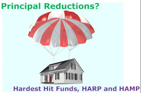 Principal Reductions: HAMP, HARP and Hardest Hit Funds