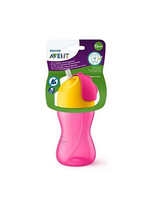Philips Avent tazza con cannuccia 300ml rosa - AVENT - Piatti e Set Pappa