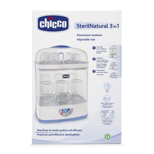 Sterilnatural 3 in 1 Sterilizzatore Dimensioni Modulari Chicco - CHICCO - Scaldabiberon e preparazione pappa