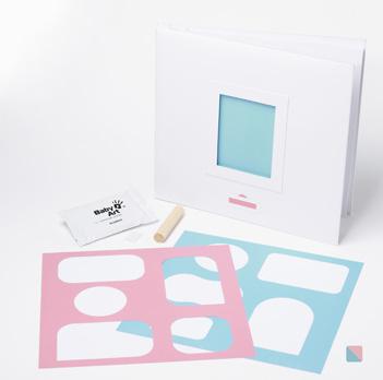 Primo compleanno Porta Foto  Bianco e Rosa/Azzurro - Accessori cameretta