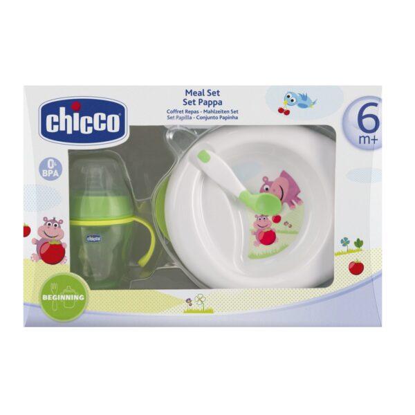 Set Pappa 6m+ Verde Chicco - CHICCO - A Tavola