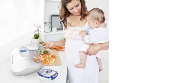 Robot Da Cucina Multifunzione 5 In 1 Grigio - MINILAND - Scaldabiberon e preparazione pappa