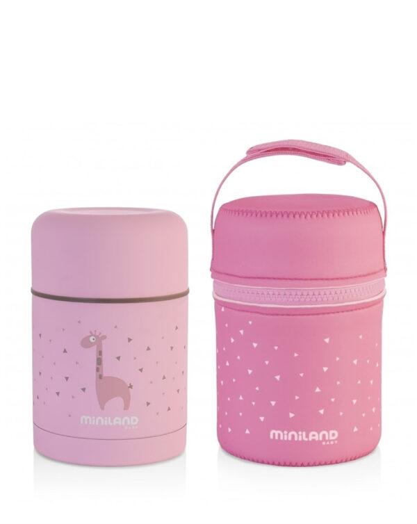 Silky thermos pink 350ml - MINILAND - Accessori Pappa e Allattamento