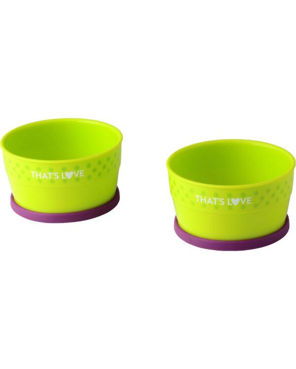 Set due scodelle con anello in silicone - That's Love - Piatti e Set Pappa