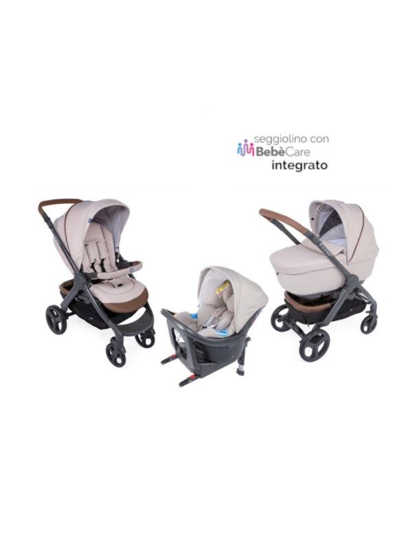 Chicco Trio StyleGo Up Crossover beige con Oasys I-Size <b> con Bebècare integrato </b> - CHICCO