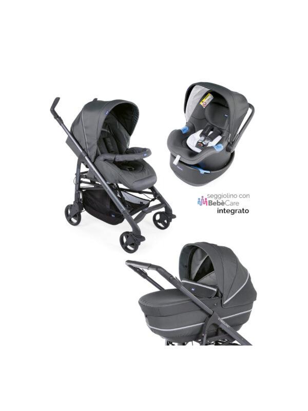 Chicco Trio Love up Cool Grey I-Size <b> con Bebècare integrato </b> - CHICCO