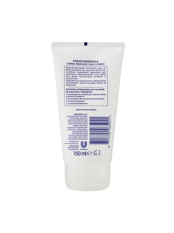Fissan Crema Essentials Idratante Viso e Corpo 150ml - FISSAN - Cura e cosmesi bambino