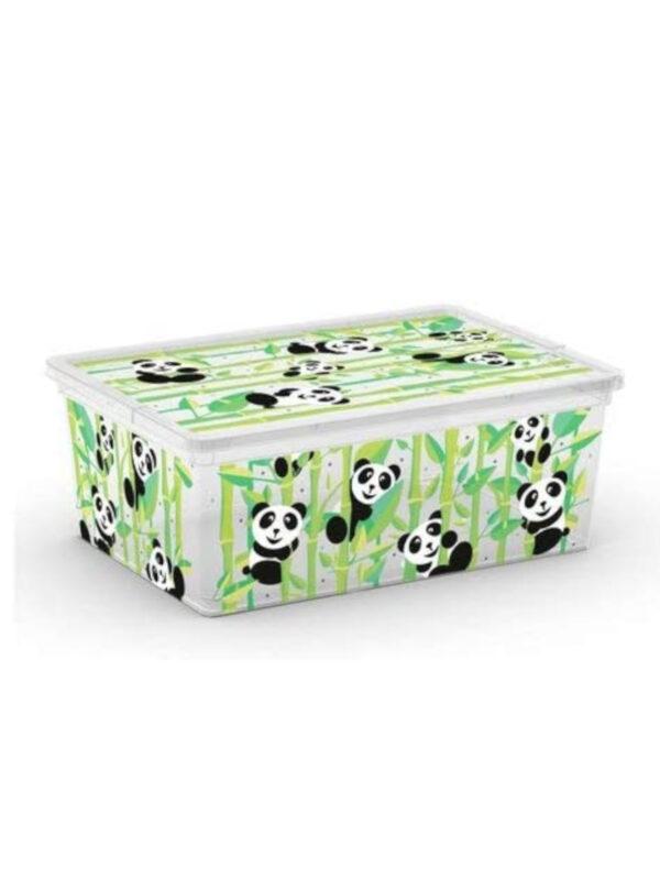 KIS Box  Panda multiuso con coperchio 11 L - KIS - Accessori cameretta