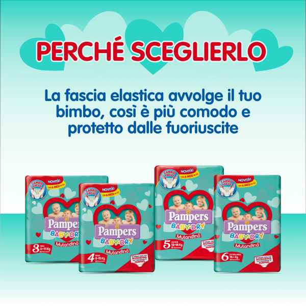 Pampers  Special Pack Baby Dry Mutandino Maxi Taglia 4 (8-15 Kg) - 80 pz - Pampers