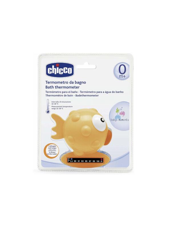 Termometro da bagno pesce palla Arancio - CHICCO - Cura e cosmesi bambino