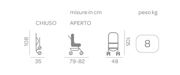 Passeggino Hurrà Sport Grey - FOPPAPEDRETTI - Foppapedretti