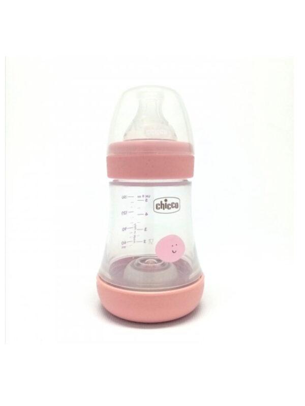 Chicco Perfect 5 rosa  Biberon 150 ml - Flusso LENTO - CHICCO - Biberon e tettarelle