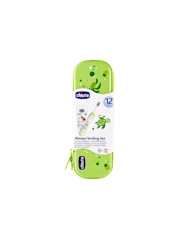 Set Primi Dentini 12m+ Verde - CHICCO - Cura e cosmesi bambino