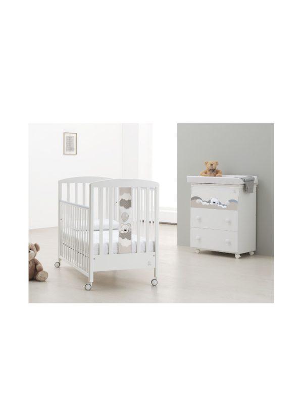 Bagnetto 3 cassetti Baby Dream bianco - ITALBABY - Bagnetti fasciatoio