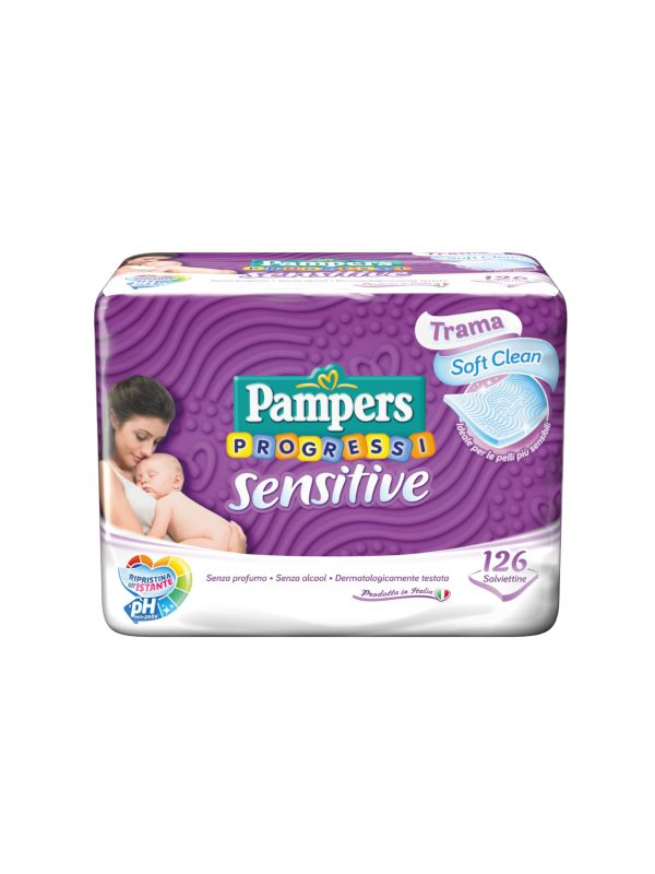 Pampers Sensitive Salviettine - 126 pz - Pampers - Accessori Cambio