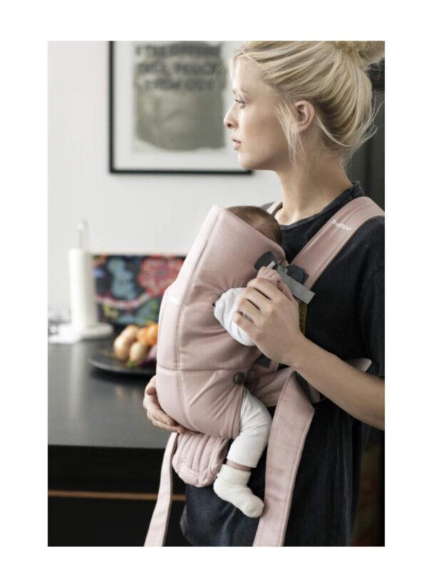 BabyBjörn Marsupio baby carrier Mini dusty pink cotton - BABYBJÖRN - Marsupi, fasce e zaini