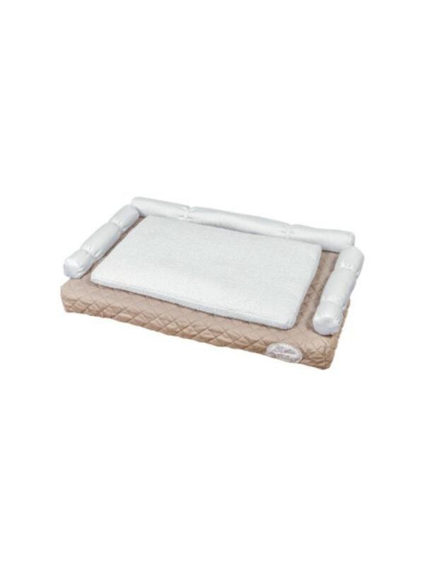 Fasciatoio tessile Cheesecake bianco/tortora 50x80 - PICCI - Accessori Cambio