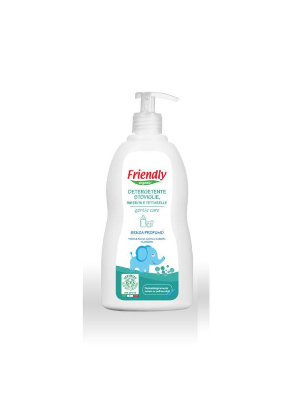 Baby detergente stoviglie, biberon e tettarelle 500 ml - FRIENDLY ORGANIC - Detergenti e creme