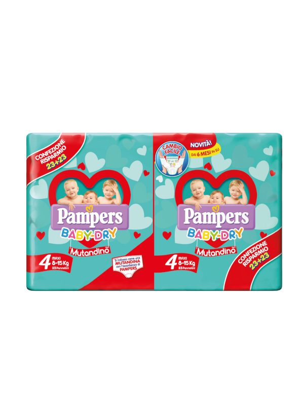 Pampers Baby Dry Mutandino Maxi Taglia 4 (8-15 Kg) - 46 pz - Pampers