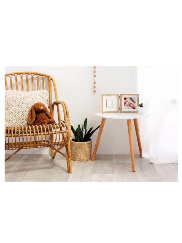 Portafoto in legno Square Frame Wooden  (con kit calco) - BABY ART - Accessori cameretta