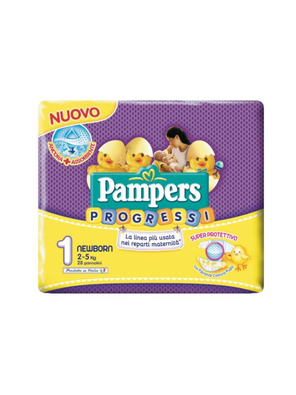 Pampers Progressi Newborn Taglia 1 (2-5 kg) - 28 pz - Pampers