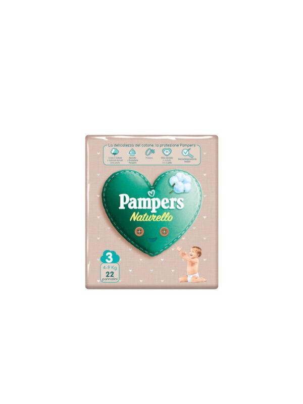 Pampers Naturello  0% profumo, Taglia 3 (4-9 kg) - 22 pz - Pampers