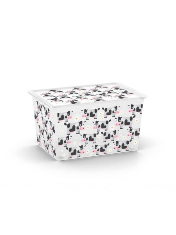 KIS Box Mucca  multiuso con coperchio 50 L - KIS - Accessori cameretta