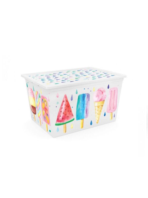 KIS Box Icecream  multiuso con coperchio 50 L - KIS - Accessori cameretta