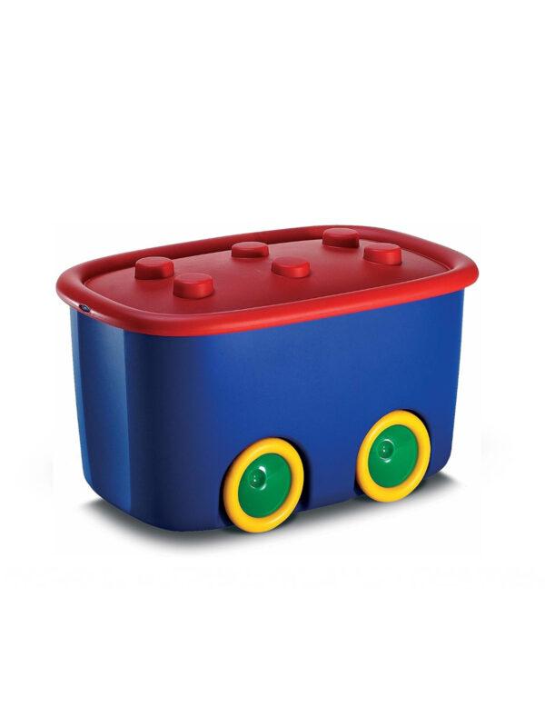KIS Box Funny  multiuso con coperchio  e ruote 46 L - KIS - Accessori cameretta