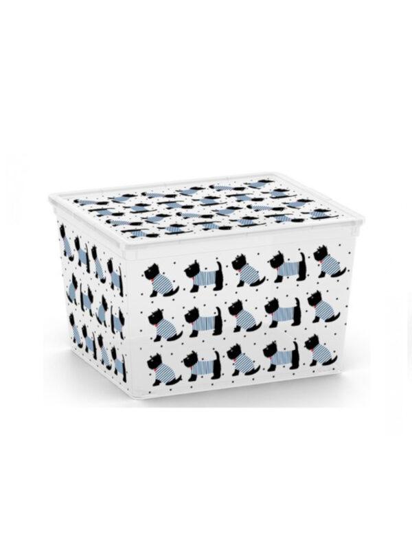 KIS Box Dogs multiuso con coperchio 27 L - KIS - Accessori cameretta