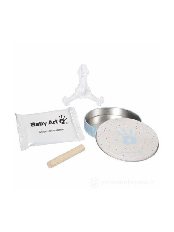 Cornice Magic Box One  in metallo  con Kit Impronta mano e piede - BABY ART - Accessori cameretta